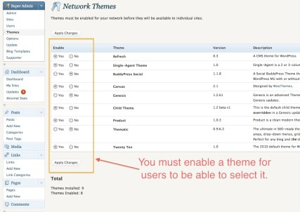 Network Themes