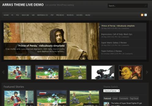Screenshot Of The Classical Gamer Theme