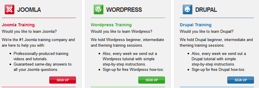 Become Competant In Joomla, Drupal, Or WordPress
