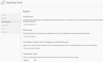 Headway Import Export Tools