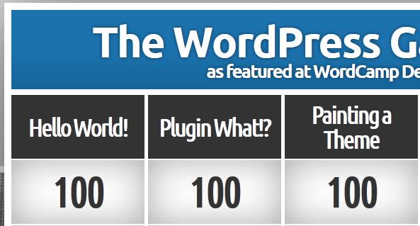 WordPress Game Show