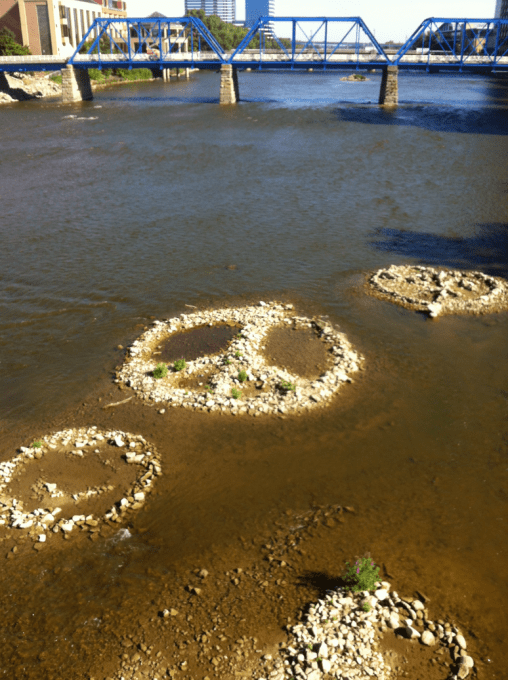 Peace Sign In The Grand River