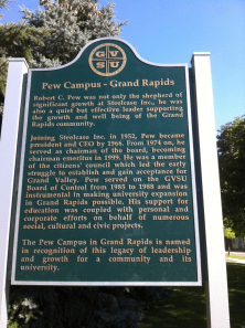 Sign About Pew Campus