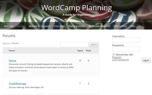 WordCamp Planning Forum