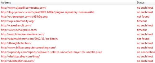 Xenu Link Sleuth Broken URLs