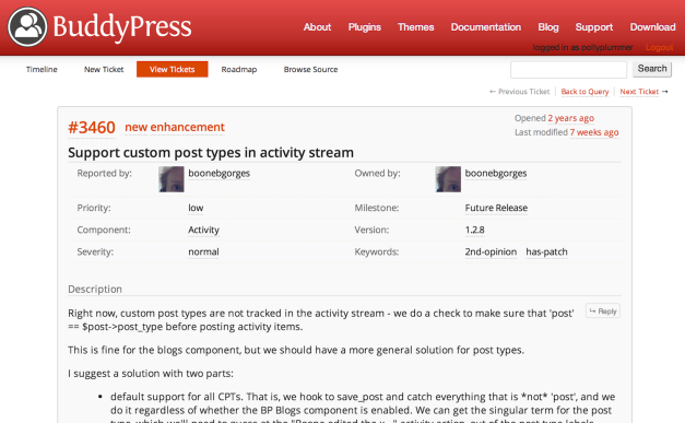 New WordPress Trac Features Have Been Ported to bbPress and BuddyPress