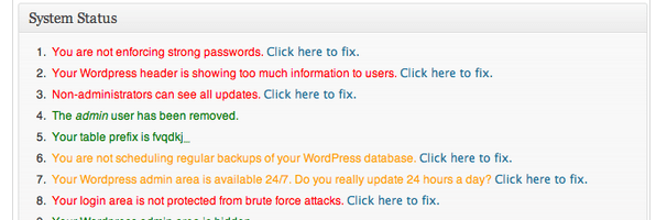 Better WordPress Security Scan