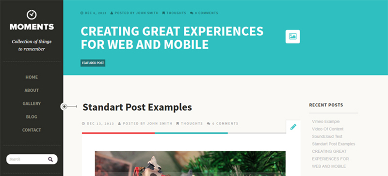 Moments: A Free Responsive WordPress Theme With Post Formats Support