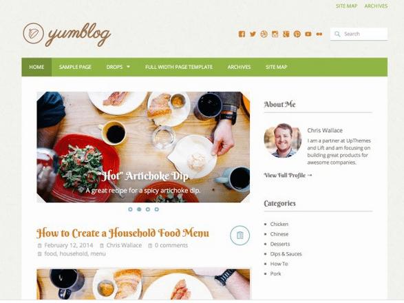 Yumblog On WordPress.com By UpThemes