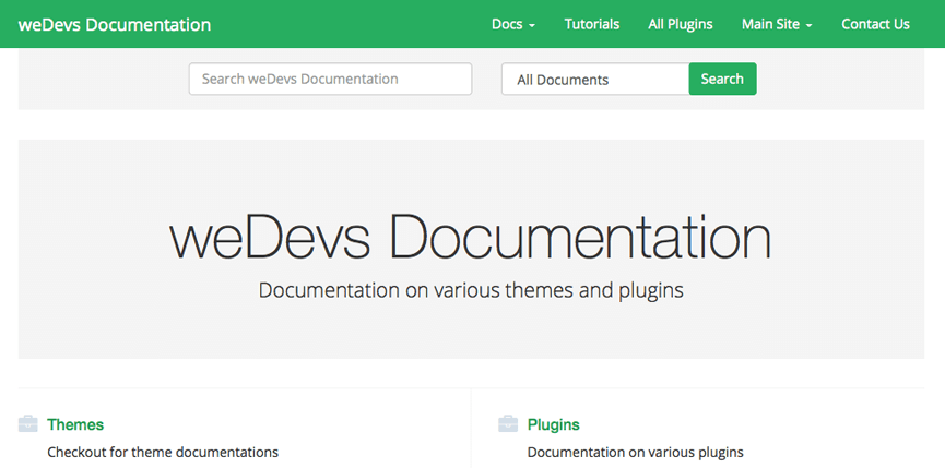 weDocs: A Free WordPress Documentation Theme Based on Bootstrap