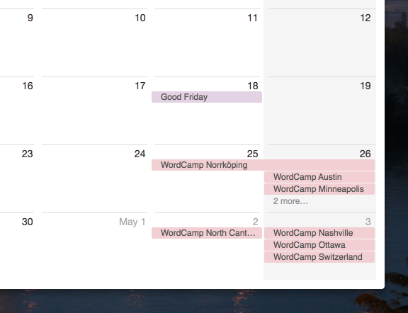 Upcoming WordCamps In iCalendar