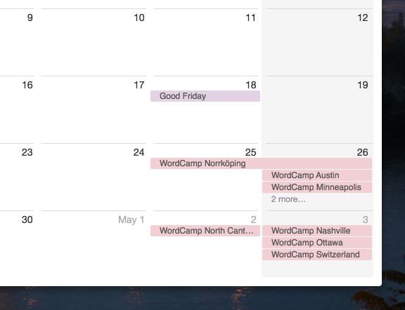 Upcoming WordCamps In iCalendar