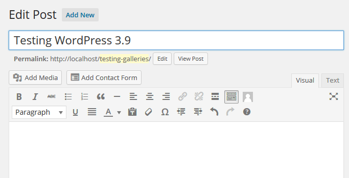 TinyMCE 4.0 In WordPress 3.9