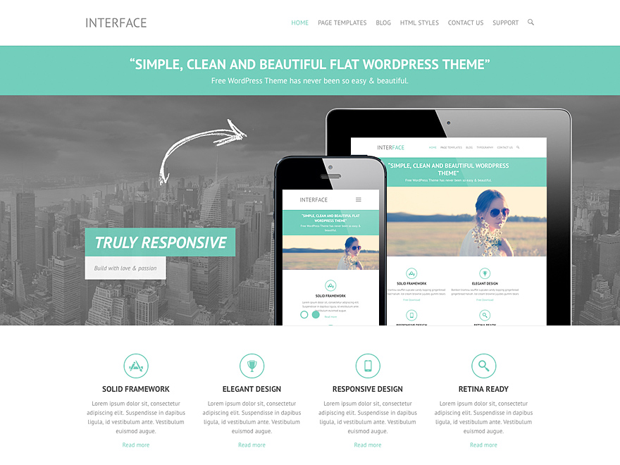 Interface: A Free Responsive Business Theme for WordPress ...