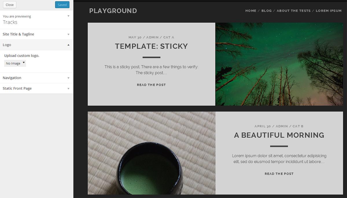 Tracks: A Free Bold WordPress Theme for Personal Blogs – WordPress ...