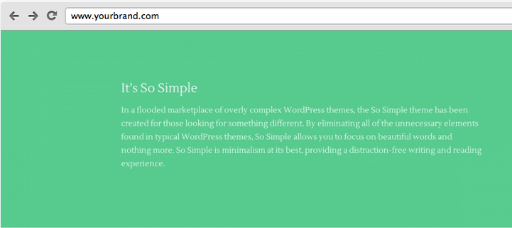 So Simple: A Free Minimalist WordPress Theme from Press75