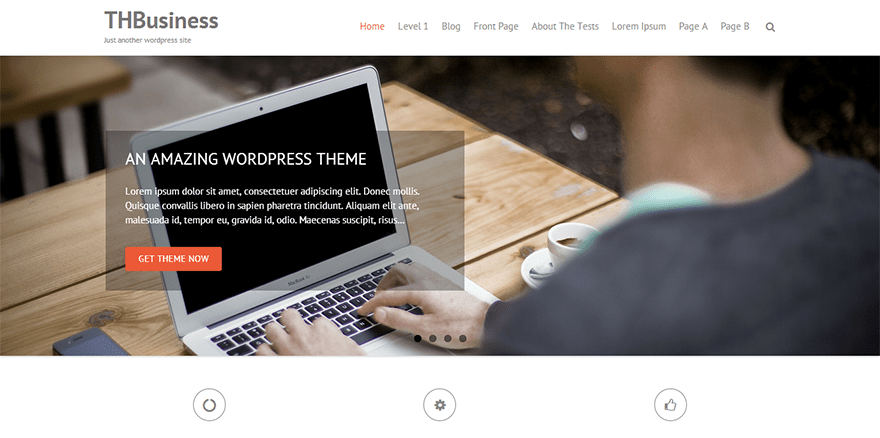 THBusiness: A Free WordPress Business Theme Based on Bootstrap