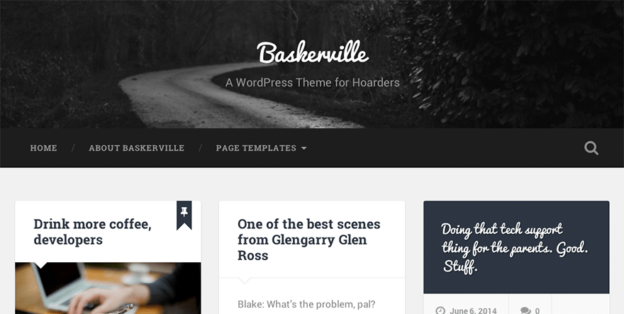 Baskerville: A Free WordPress Theme for Hoarders