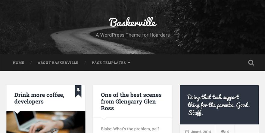 Baskerville: A Free WordPress Theme for Hoarders