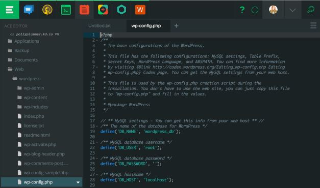 wordpress-files-in-koding