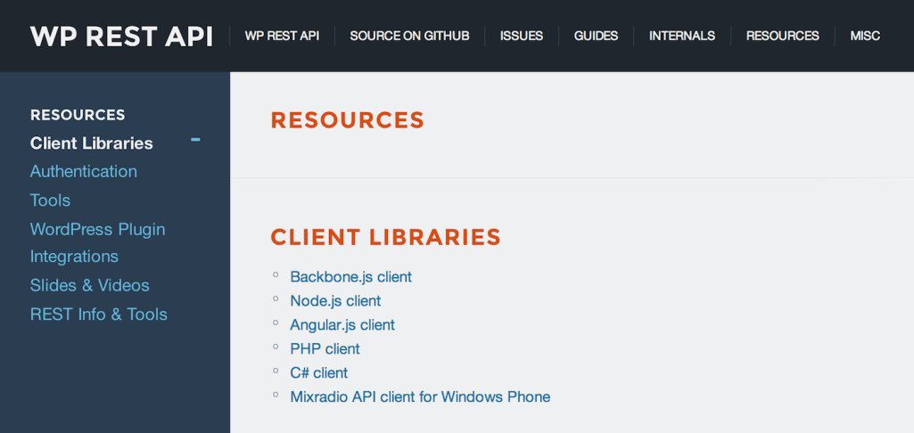 Resources for Working with the WordPress REST API
