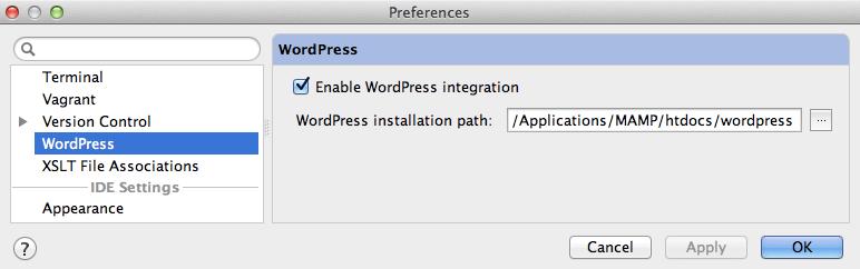 phpstorm-enable-wp-integration