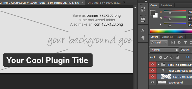 Free PSD Template for Creating a WordPress.org Plugin Banner