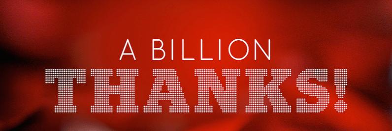 Billion Thanks Featured Image