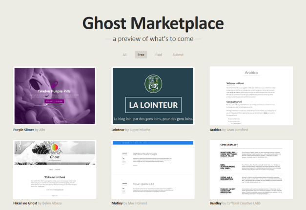 The Ghost Theme Marketplace