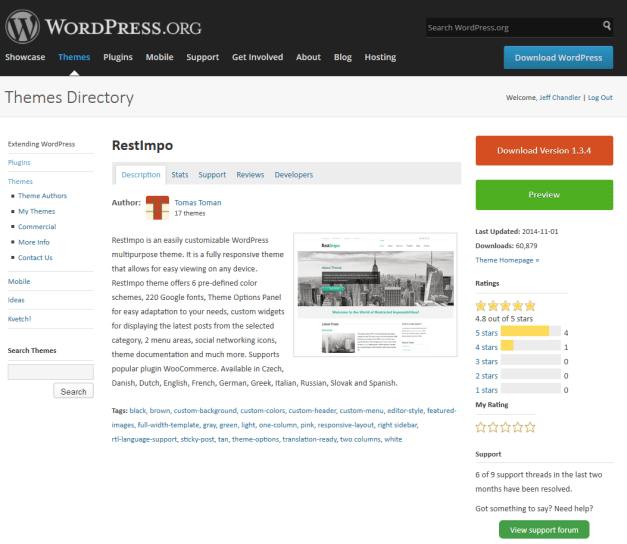 The WordPress Theme Directory
