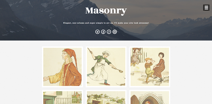 DevriX and Emil Uzelac Team Up to Produce Masonry, A Free WordPress Theme
