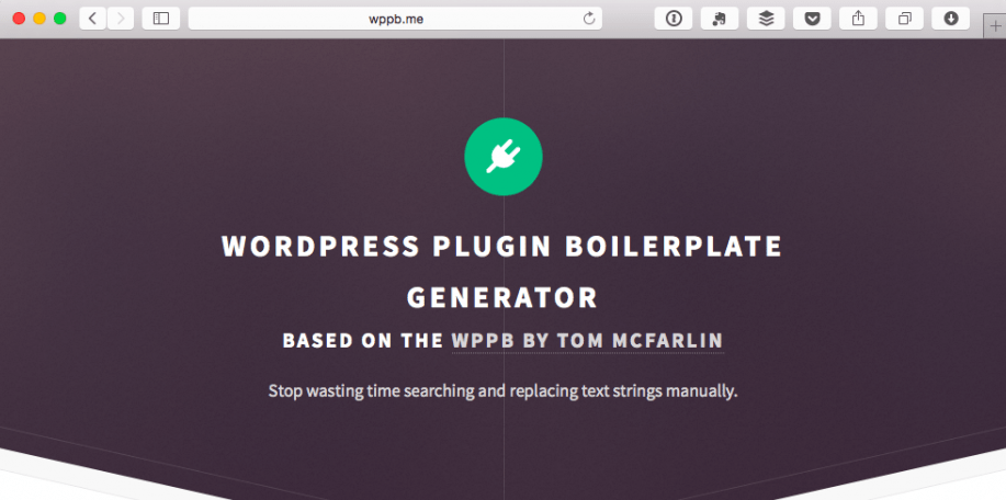 New WordPress Plugin Boilerplate Generator Speeds Plugin Creation