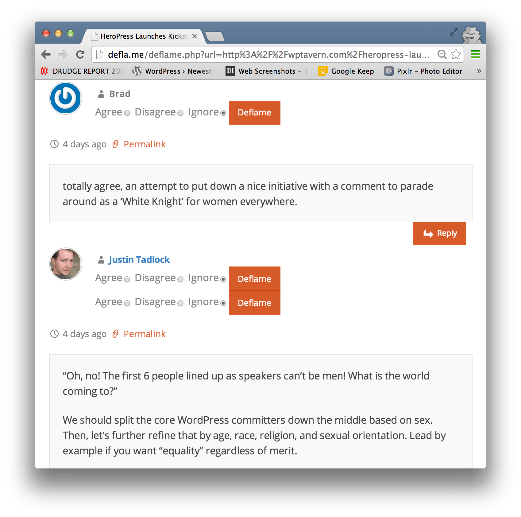Deflame Web App Aims to Improve Discussion on WordPress