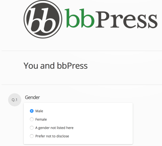 2015 bbPress Survey Questions