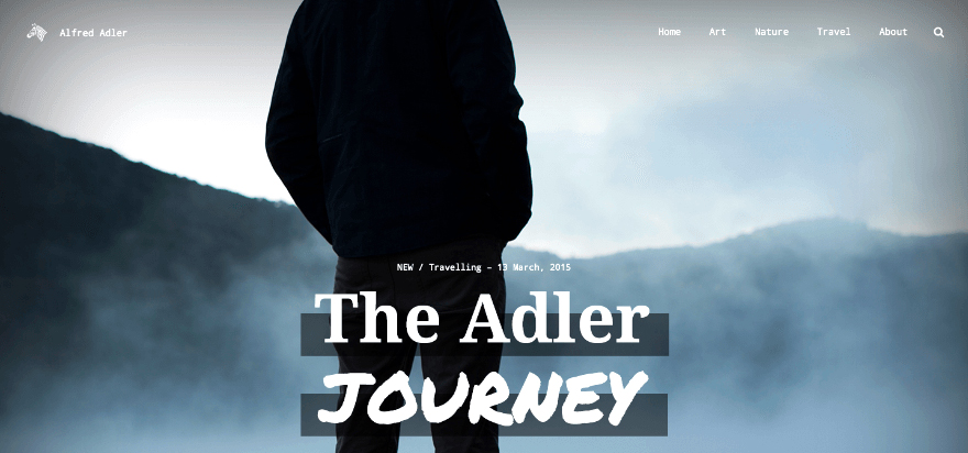 Adler: A Unique Personal Blogging Theme for WordPress