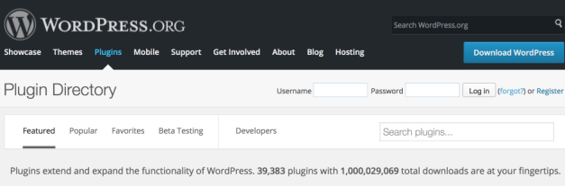 One billion total plugin downloads