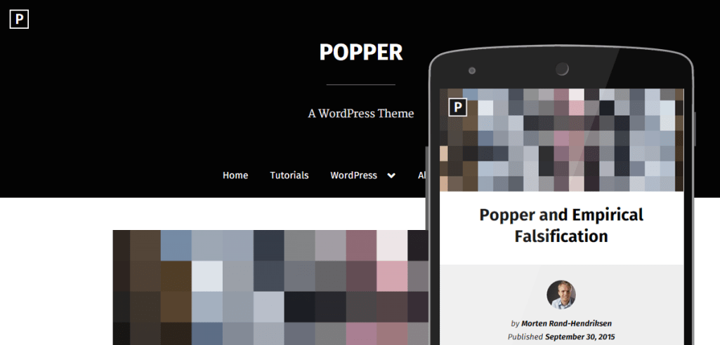 Popper: A Free Touch-Friendly WordPress Theme with a Focus on Accessibility