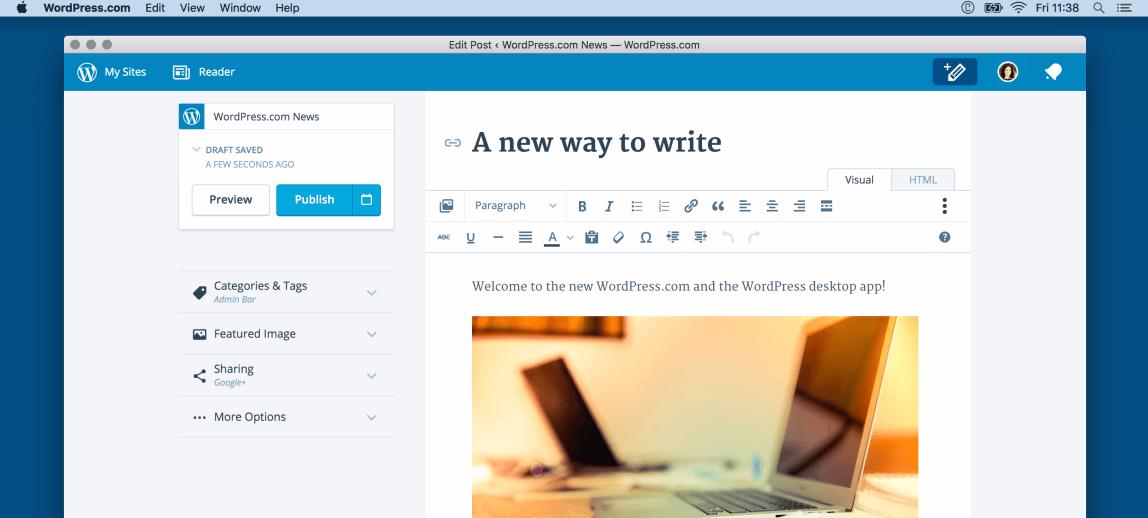 WordPress com Open Sources Desktop App, Linux Version Now