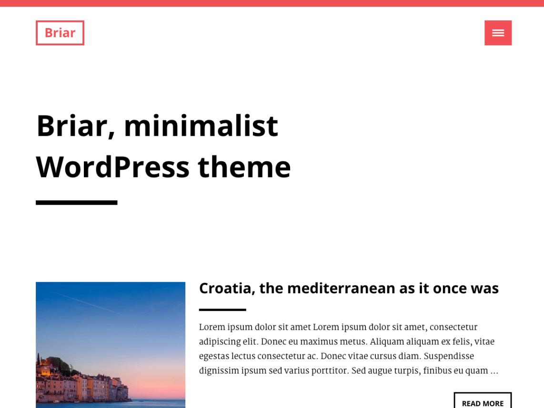Briar: A Free Minimalist WordPress Theme Based on Bootstrap