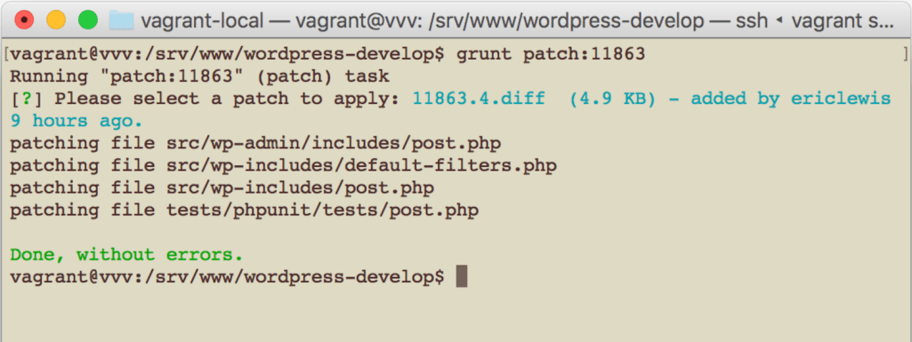 Learn How to Test WordPress Core Patches with VVV on Mac OS