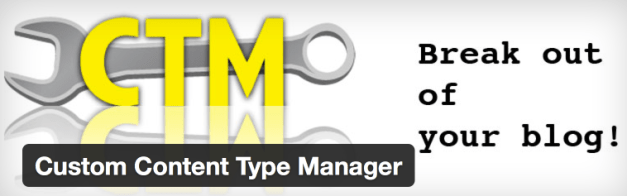 Custom Content Type Manager Plugin Header