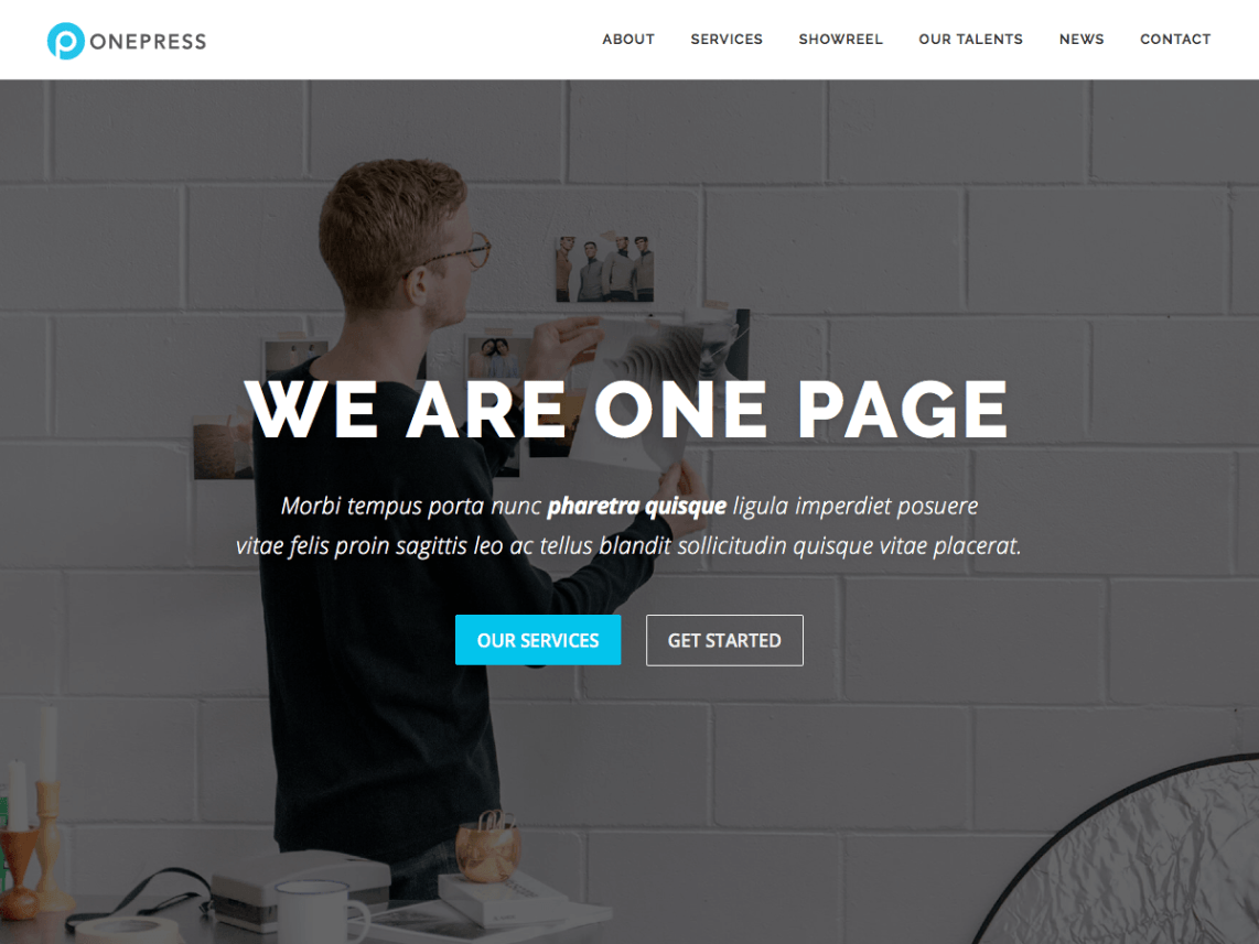 OnePress: A Free Single-Page WordPress Theme Built with