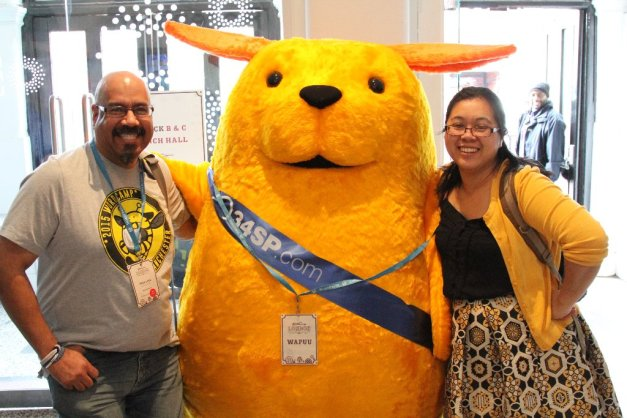Giant Wapuu at WordCamp London