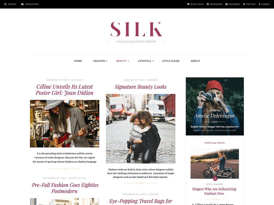 Silk Lite A Free Wordpress Magazine Theme For Fashion Bloggers Wordpress Tavern