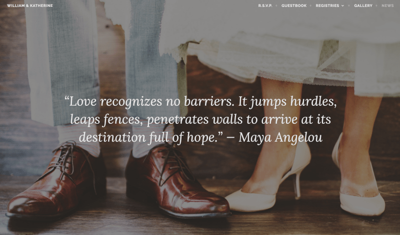 Affinity: A Free WordPress Wedding Theme from Automattic
