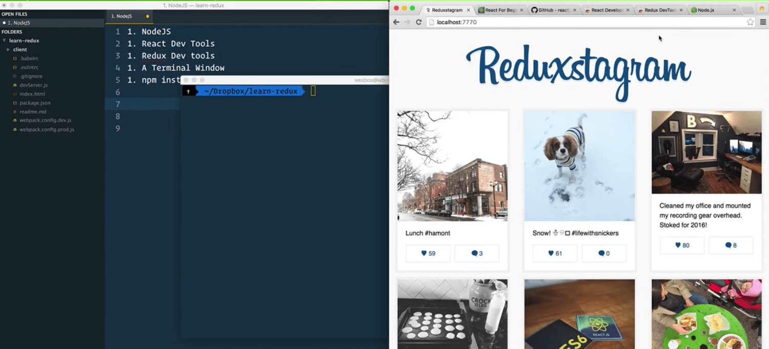 Wes bos launches free reactjs redux online course wordpress wes bos a developer and educator known for his high quality video tutorials has just launched a free online course for building javascript apps with baditri Images
