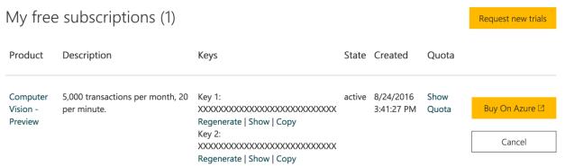 MicrosoftCognitiveSearchAPIKeys