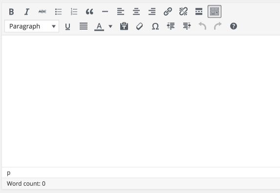 WordPress 4.6 Post Editor