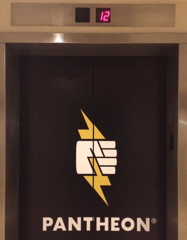 Pantheon's Elevator Advertising