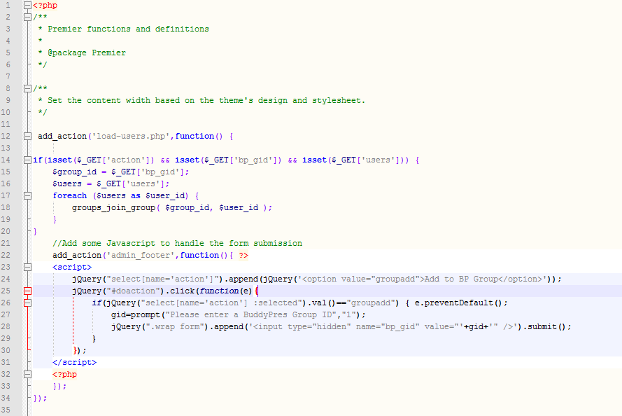 Code Snippet at the Top of my Theme's Functions.php File